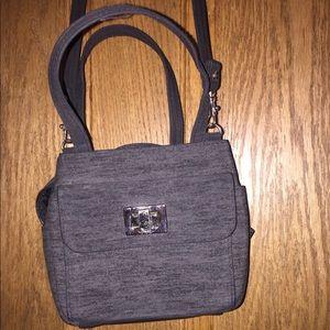 Handbags - Heather Grey cross body purse